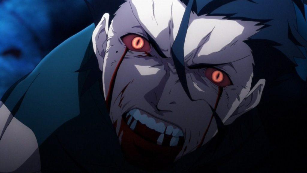 自害させられたランサー(ディルムッド・オディナ)は、呪詛を吐きながら消滅した。