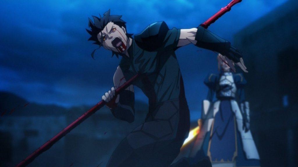 ランサーのディルムッド・オディナ(Fate/Zero)は、衛宮切嗣の脅迫に屈したケイネスの令呪により自害させられてしまう。