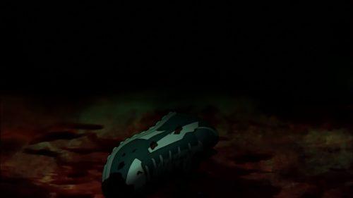 テレビアニメ「Fate/Zero」第9話では、キャスターの工房・あじとの発見から破壊シーンは、かなり放送規制された。