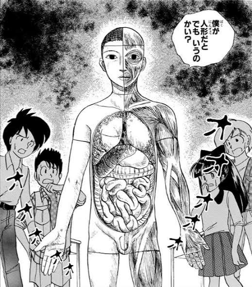 自分のことを人間だと思い込む人体模型