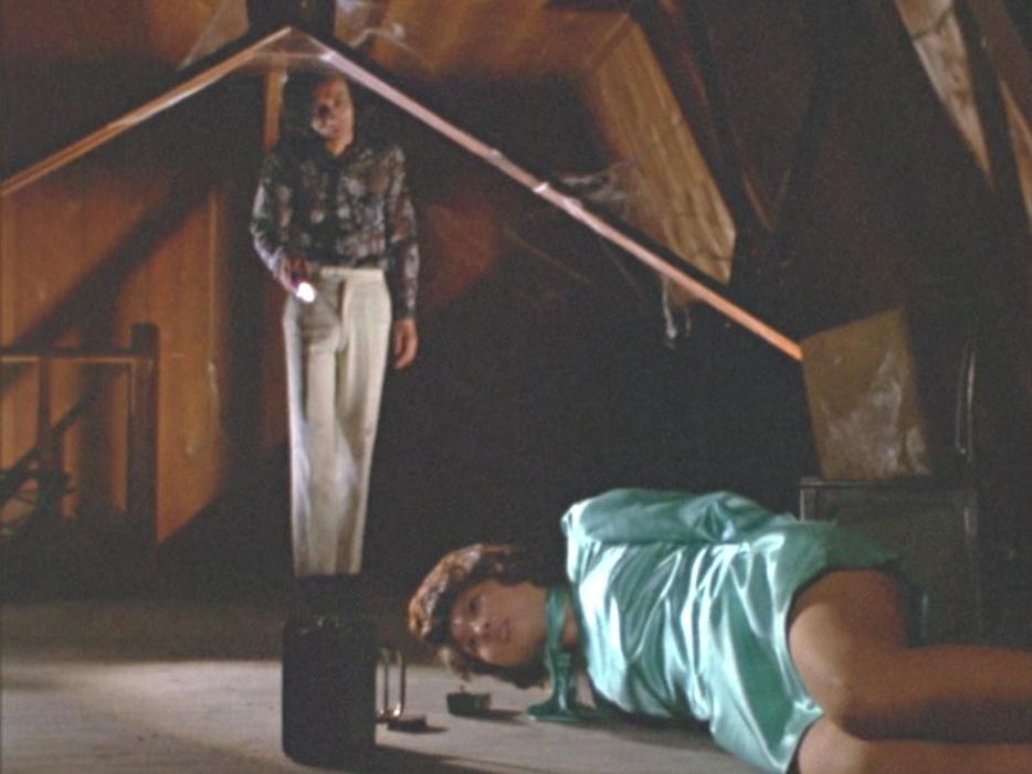 なかなか誰も来ないことを不審に思う美川隊員だったが、飲み物に入れられた睡眠薬によって眠ってしまう。手足を縛られ屋根裏に監禁されてしまう。