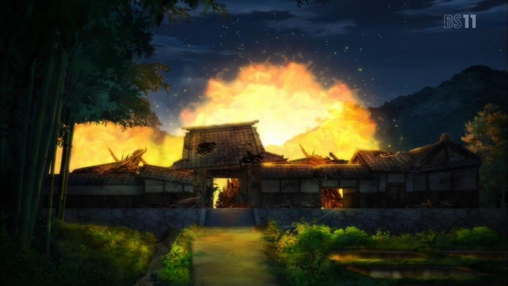町はミチルの怨念がこもった炎に包まれ、一夜にして全滅した。