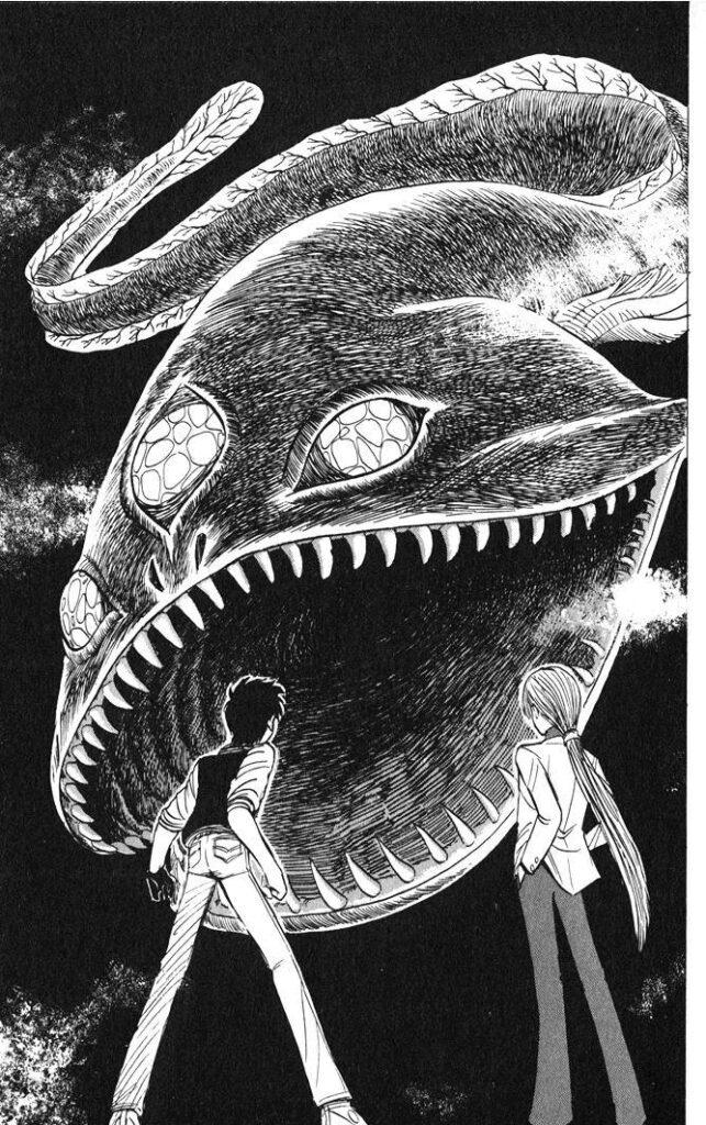 霊霧魚(レムギョ)は、霧の中を泳ぐ魚。霧を発生させ、その中では何度でも蘇る。仲間を増やす為人間に卵を産み付ける。