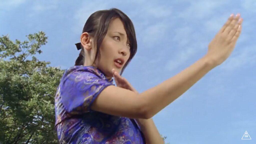 「風のシズカ / 風のスーパーシズカ」役:山崎真実(やまさき まみ)「これで終わりじゃないからね。世界一のカンフ-ガールよ。」