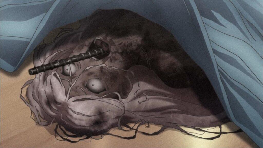 杯田 理子(はいだ りこ) / 上手に焼けましたは、ニュージェネレーションの狂気の再来第5の事件。全裸の女性が自宅のテーブルの上で、頭から串焼きの串のような鉄筋が突き出た状態で焼死していた。遺体は激しく焼失しており、身元確認は困難な状態となっていた。