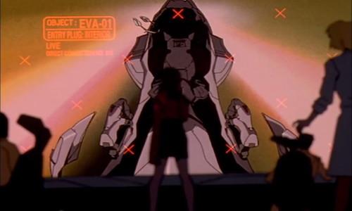 シンジはエヴァの内部にいない。シンクロ率が400%になったので彼の体は初号機の内部で消滅してしまった(溶け込んでしまった)。