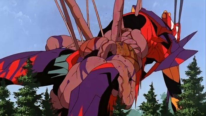 弐号機の内臓を喰い千切り飛翔し臓物を体外に引きずり出す映像はかなりグロい。内臓が露出している。