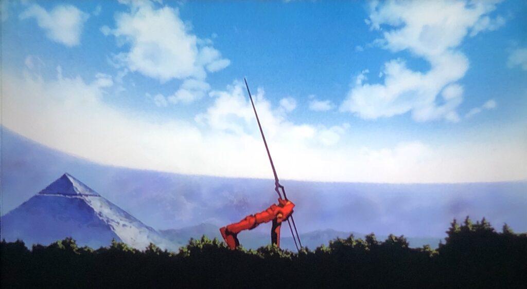 「内蔵電源……終了。活動限界です。エヴァ弐号機……沈黙」 そのまま槍に頭部を貫かれた弐号機は同時に活動限界を迎え沈黙。