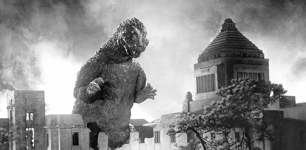 特撮怪獣映画の原点にして頂点「ゴジラ」(1954) / 画像は「株式会社東宝のキャラクター、ゴジラのオフィシャルサイト」より引用
