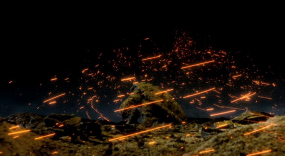 仙台では穂波碧(ほなみ みどり)や草薙浅黄(くさなぎ あさぎ)、子供たちが集まり、ガメラの復活を祈っていた。その祈りの力が浅黄の勾玉を通じてガメラに集まっていく。