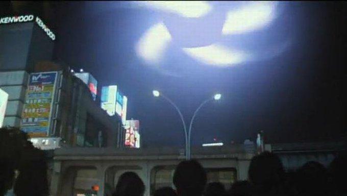 ガメラとギャオス・ハイパーによって大被害を受けた渋谷