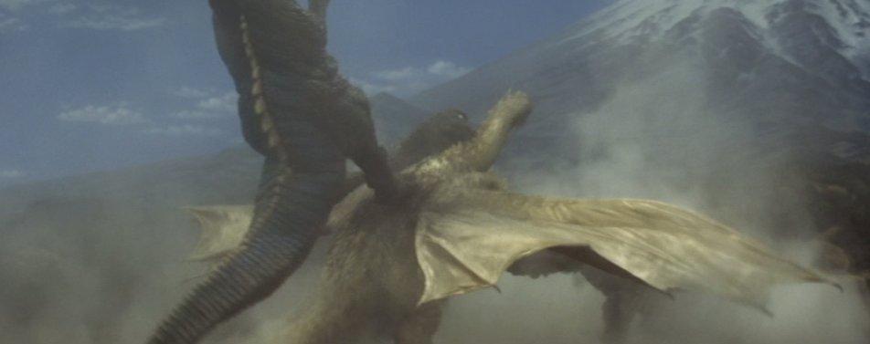 ゴロザウルスにカンガルーキックで倒されたあと、キングギドラの地獄が始まる。