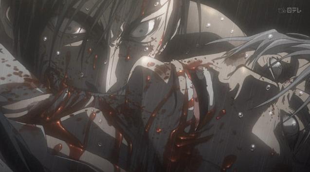 手足を失い胸部から上だけの存在となった久保が美馬坂の首に食いかかって噛み殺し、その久保を陽子が刺殺した凄惨な光景…。
