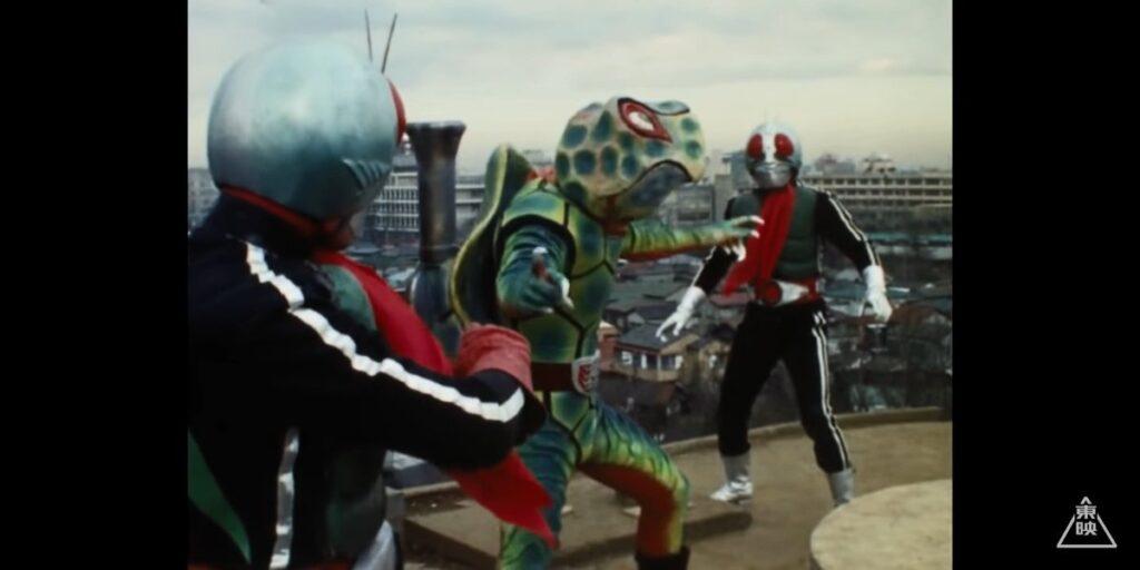 1号「カメバズーカ!貴様に東京の平和は乱させん!」 2号「それが私達の使命だ!」