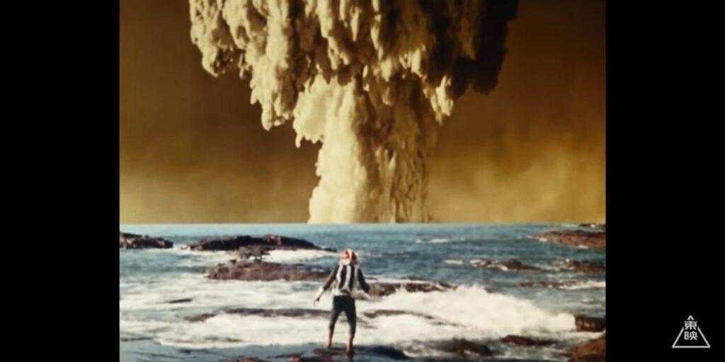 カメバズーカの体内の原爆が爆発してしまった。本郷さああん! 一文字さああん!