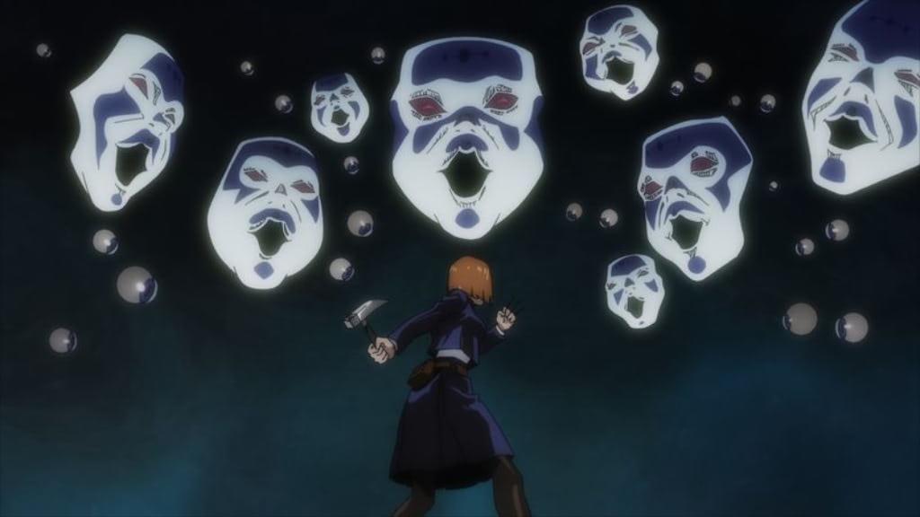 『呪術廻戦』第4話 少年院にて大量の顔の呪霊とバトルする釘崎野薔薇 (くぎさきのばら)