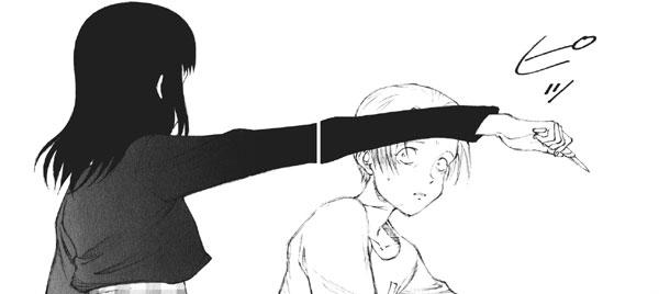 チズ(本田千鶴)は、敵前逃亡のカコ(加古功)を、なんとその場で殺害してしまう。