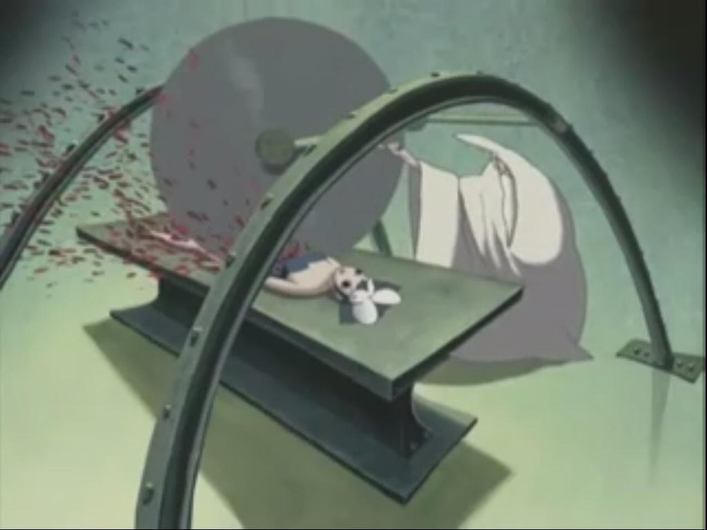 にゃっ太はにゃーこをつれサーカスを見にいく。グロテスクで奇怪な世界・・・サーカスの人体切断ショー。