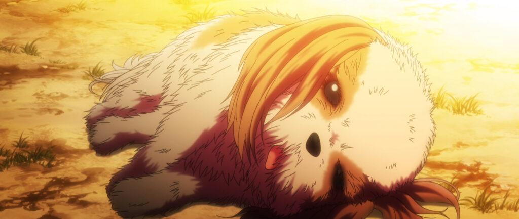 『グリザイアの果実』第11話「エンジェリック・ハゥルII」 生き延びるためとはいえ、死亡した犬を食べる。