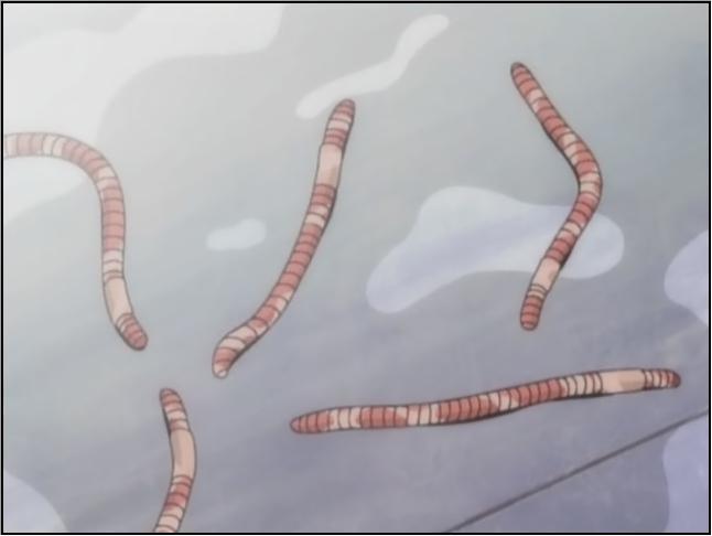 貝塚ひろ子が吐き出したミミズ。いじめの描写が痛々しく視聴者に強烈なトラウマを植えつけた。