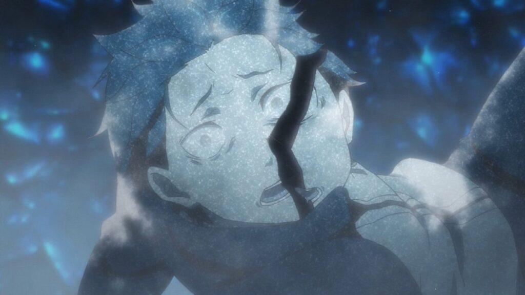 パック「もう遅すぎたんだよ。」…氷漬けにされ、崩れるスバル。スバル死に戻り(1回目)