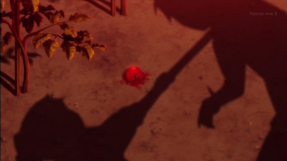 慌ててバリケードを作るも、憧れの先輩がゾンビに…執拗にくるみは先輩だったものを園芸用のシャベルで刺す。