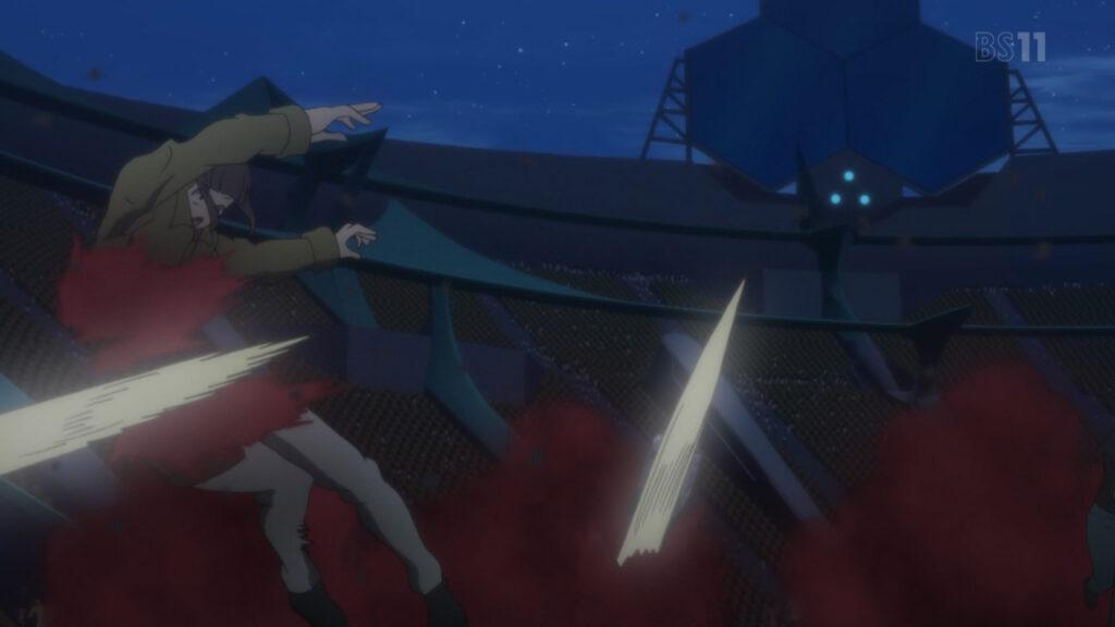 ミラアルクは、大量のアルカ・ノイズを伴って突如翼とマリアのライブを襲撃する。血まみれの惨劇となる。
