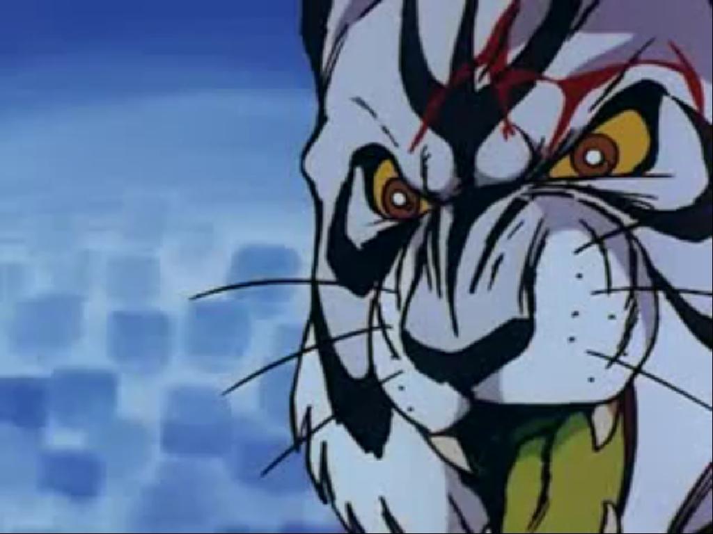 アニメ版『タイガーマスク』第105話「去りゆく虎」(最終話)は、「虎の穴」のボスが自らマスクを被り、最強最後の悪役レスラー「タイガー・ザ・グレート」として、タイガーマスクの前に現れ、直接対決の試合に挑む。