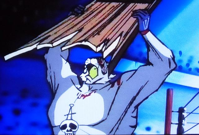 タイガー・ザ・グレートは、アニメ作品『タイガーマスク』に登場する悪役レスラー養成機関「虎の穴」のボスの正体であり、怪力・技・反則の3つを兼ね備えた「虎の穴」最強最後のレスラー。胸にはドクロとナイフの刻印が施された、不気味な白虎のコスチュームを着ている。 タイガー・ザ・グレートは裏切り者であるタイガーを抹殺しようと殺意剥き出しで凶悪な反則技を連発する。場外の実況用モニターの配線を引きちぎり、それを使ってタイガー首を絞める。 現代では地上派放送できないレベルに危険な残虐シーンが続き、タイガーマスクだけでなくリングも血まみれになる。