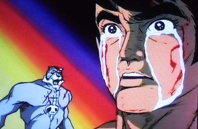 素顔をさらされた伊達直人は、涙を流しながら高々と笑う・・・怒涛の反則攻撃でタイガー・ザ・グレートを殺す。